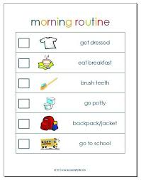 Adhd Morning Routine Chart Morning Routine Printable Morning Routine Printable