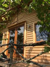 timber garden office. Timber Garden Office Doorway Wood Rail
