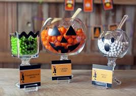 homemade halloween candy ideas.  Ideas And Here Are Some Fun And Easy Ideas From Kim At The Celebration Shoppe   Monster Pedestal Jars Moster Cello Treat Bags Inside Homemade Halloween Candy Ideas N