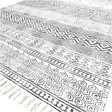 woven cotton rugs black white block print flat weave area accent rug 4 x 6 ft dash and blue woven cotton rug