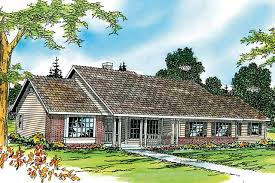 ranch house plan alpine 30 043 front elevation