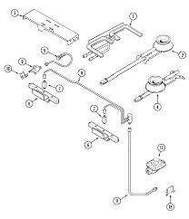 jenn air svd48600p gas electric slide in range timer stove svd48600p gas electric slide in range gas controls parts diagram