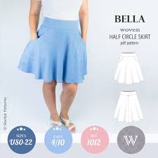 Skirt Pattern Cool Bella Half Circle Woven Skirt With Pockets PDF Sinclair Patterns