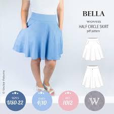 Skirt Patterns Classy Bella Half Circle Woven Skirt With Pockets PDF Sinclair Patterns