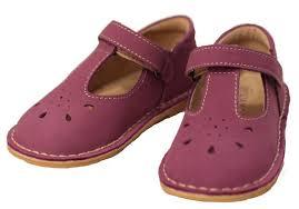 Lamour Girls Classic D502 Purple Nubuck Leather Mary Janes