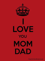 i love you mom dad poster