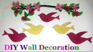 wall art sparrow diy wall decoration idea