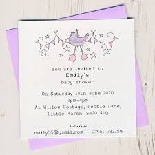 Baby Shower Invitation Cards Personalised Baby Shower Invitation Pack