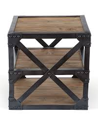 Industrial Inspired Furniture Side Table With A Modern Industrialinspired Aesthetic Made Of Reclaimed Firu2026 Industrial Inspired Furniture