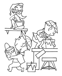 Hard Worker Christmas Elf Coloring Pages Christmas Coloring Pages