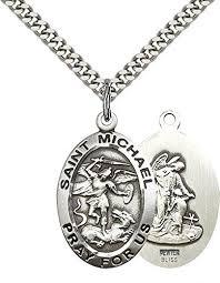 pewter st michael the archangel pendant