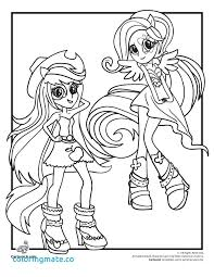 Rainbow Rocks Coloring Pages Equestria Girls Colouring Free And