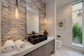 modern master bathroom with luxury pendant lights