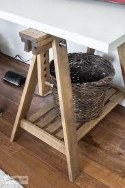 diy a rustic ikea trestle sewing table