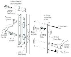 door lock parts. Plain Lock Door Knob Mechanism Latch Assembly Exploded Lock Trim Hardware  Parts Of A Works And O