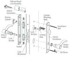 door mechanism latch embly door exploded lock trim hardware parts of a door lock door mechanism door mechanism parts