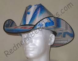 Bud Light Box Cowboy Hat Amazon Com Cowboy Hat Made From Recycled Natural Light Beer