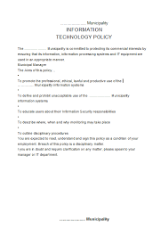 It Policy Document Template 15 Policy Memo Templates Free Sample ...