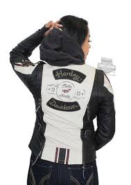 harley davidson womens alyssa action back distressed 3 in 1 stone leather