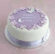 Mothers Day Cake With Mauve Polka Dot Ribbon For All Your Cake