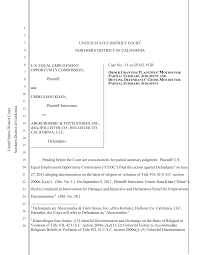 EEOC v. <b>Abercrombie & Fitch</b> Stores, Inc. - Order granting partial ...