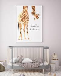 giraffe animal nursery decor nursery wall art printable art scheme of giraffe wall sticker