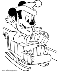 Small Picture Mickey Mouse Baby Mickey as Santa Claus coloring page