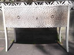 Lockable Bedroom Furniture Lockable Bow Fronted Console Sideboard In Leopard Print By