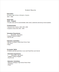 Resume High School Student No Experience Student Resume Examples No