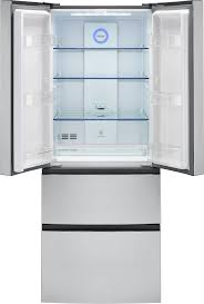 capacity french door refrigerator featured haier hrf15n3ags 3 4 view haier hrf15n3ags interior view