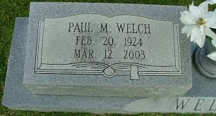 Paul Merritt Welch (1924-2003) - Find A Grave Memorial