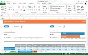Microsoft Excel Budget Template 2013 Monthly Home Budget Template