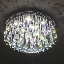 magnificent flush mount crystal chandelier on new design led with regard to decor 5