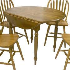 tms furniture wood round extending dining table at