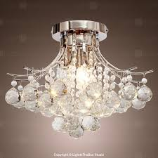 Lighting By Pecaso Contour Flush Mount Chrome Chandelier Chrome Finish Crystal Chandelier With 3 Lights Usd