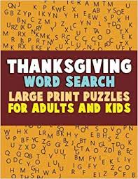 Thanksgiving Word Search Large Print Puzzles For Adults And