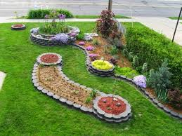 Small Picture Exellent Flower Garden Ideas For Front Yard Of On Design Decorating