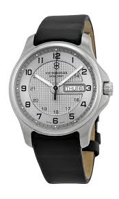 swiss army classic officer s stainless steel gmt mens strap watch swiss army classic officer s stainless steel gmt mens strap watch silver dial calendar 241550 amazon co uk watches
