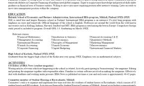 Statistics Major Resume Download Extra Curricular Activities In Resume  Sample Download .