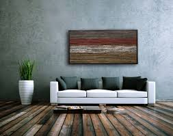 image of modern rustic wall decor for living room