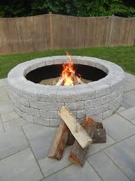 stone round fire pit large home depot modern fireplace covers kits inside round granite outdoor fireplace