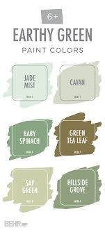 Calming Light Colors This Earthy Green Color Palette From Behr Is Full Of