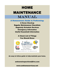 Household Maintenance List Home Maintenance Manual Manualzz Com