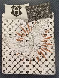 primark harry potter hogwarts owl reversible double duvet cover set