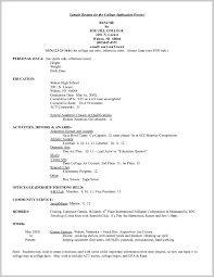 What A College Resume Should Look Like Unique Activity Resume For
