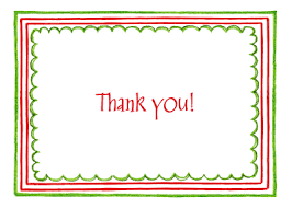 Triple Christmas Border Thank You Note By Amy Adele