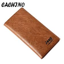 cachino brand wallet men leather wallets purse long male clutch wallet mens money large quantity phone pocket bag handmade leather wallet best front pocket
