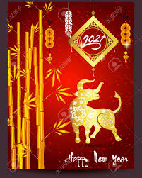 Happy Chinese New Year 2021 Year Of The Ox Flower And Asian Elements..  Royalty Free Cliparts, Vectors, And Stock Illustration. Image 135957038.