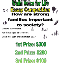 voice for life voice for life waihi essay competition conditions of entry