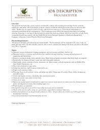 Housekeeper Resume Example Hotel Housekeeping Attendant Sample No